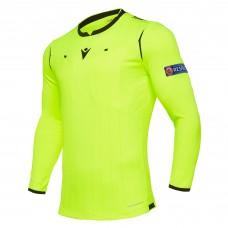 REFEREE neon yellow shirt uefa LS