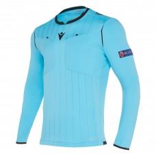 REFEREE neon blue shirt uefa LS