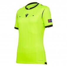 REFEREE neon yellow shirt uefa SS women