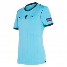 REFEREE neon blue shirt uefa SS women