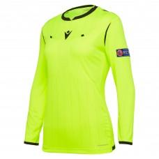 REFEREE neon yellow shirt uefa LS women