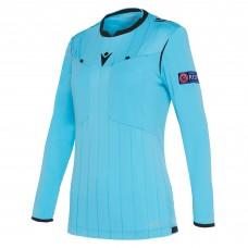 REFEREE neon blue shirt uefa LS women